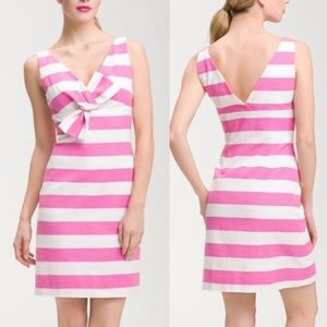 Kate Spade NY Silverscreen stripe bow front dress